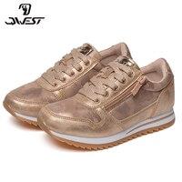 QWEST/брендовые кожаные стельки; дышащие детские спортивные ботинки с застежкой липучкой; Размеры 30 36; детские кроссовки для девочек; 91P XO 1332