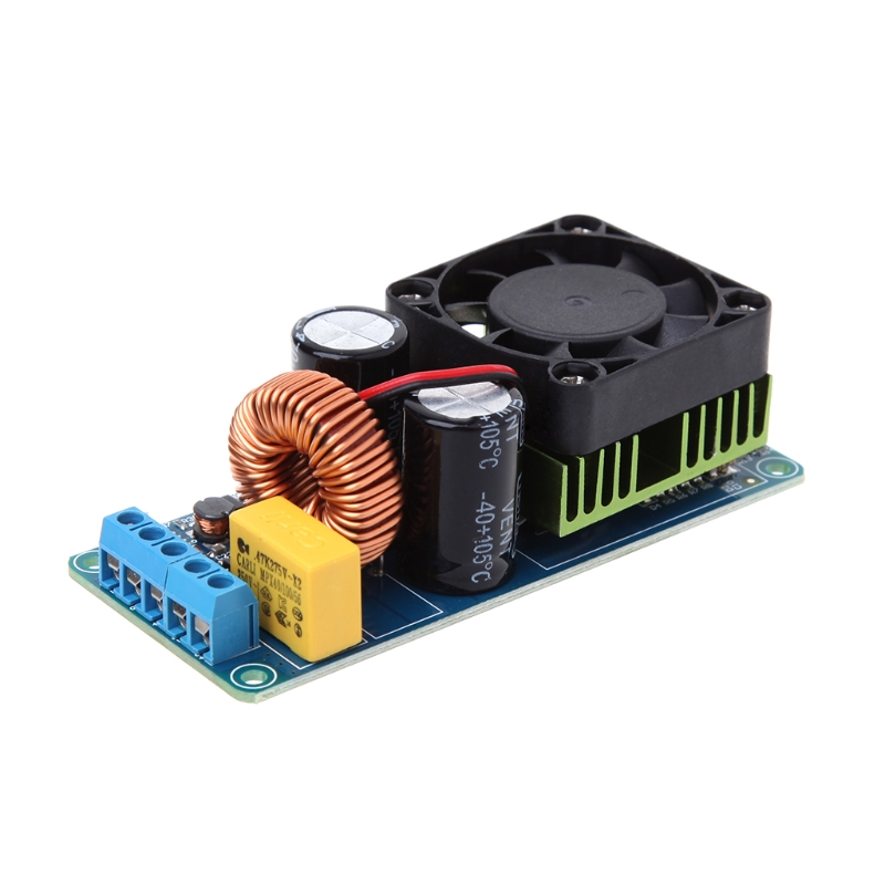 IRS2092S 500W Mono Channel Class D HIFI Power Amp Board I2Q4 Digital Amplifier finished irfp4227 irs2092s high power 1000w mono class d hifi digital power amplifier board
