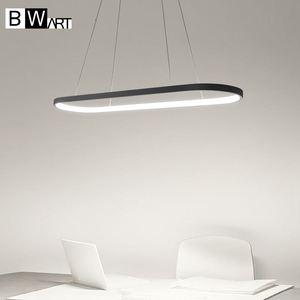 Image 3 - BWART מודרנית אהיל שחור תעשייתי לופט נברשת תליון תליית אור luminaire LED גופי למטבח חדר אוכל מיטת