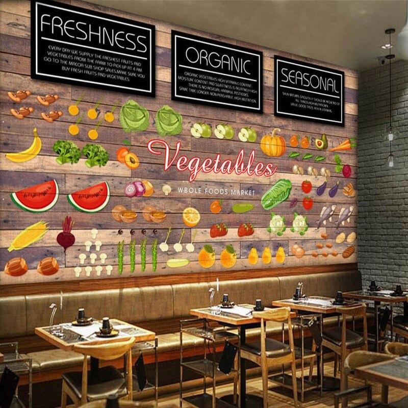 Restaurant Kitchen Wallpaper online get cheap wallpaper for kitchen fruit and vegetable