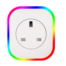 Hot New Smart Plug Rgb Led Light Wifi Outlet Socket Eu Remote Control For Google Home Mini Alexa Timing Switch
