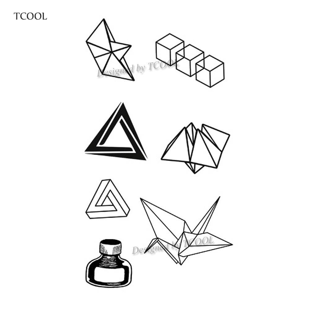 HXMAN Paper Cranes Temporary Fake Tattoo Body Art Sticker Waterproof Face Tattoo Sticker For Women Children 10.5X6cm G-009