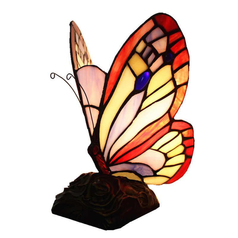 Русская бабочка, ночник, художественный витражный светильник, бабочка Тиффани, лампа для ванной комнаты, гостиной, выставочного зала, украшение