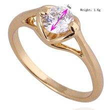 GUSSIARRO Fashion Jewelry Round CZ  Gold-Color White Zirconia Romantic Heart Love Wedding Ring For Women Free Shipping