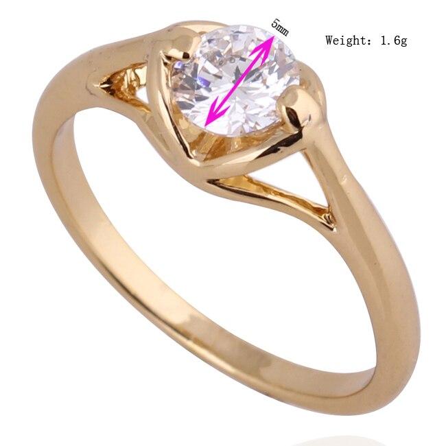 134afe992e9f Gussiarro moda joyería CZ oro de color blanco zirconia romántico del amor  del corazón del anillo de las mujeres del envío gratis