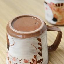 Japanese style lovely cat three brothers mug cup hand painted underglaze coffee tea B