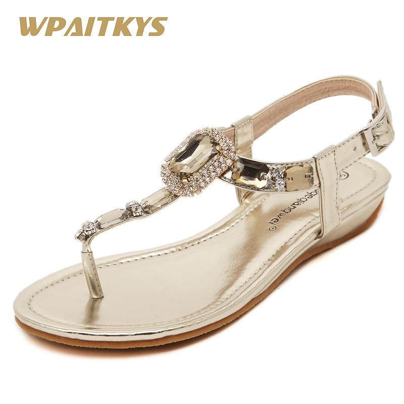 Goud Zilver Twee kleuren Optionele Dames Sandalen Schoenen met Mode - Damesschoenen - Foto 1