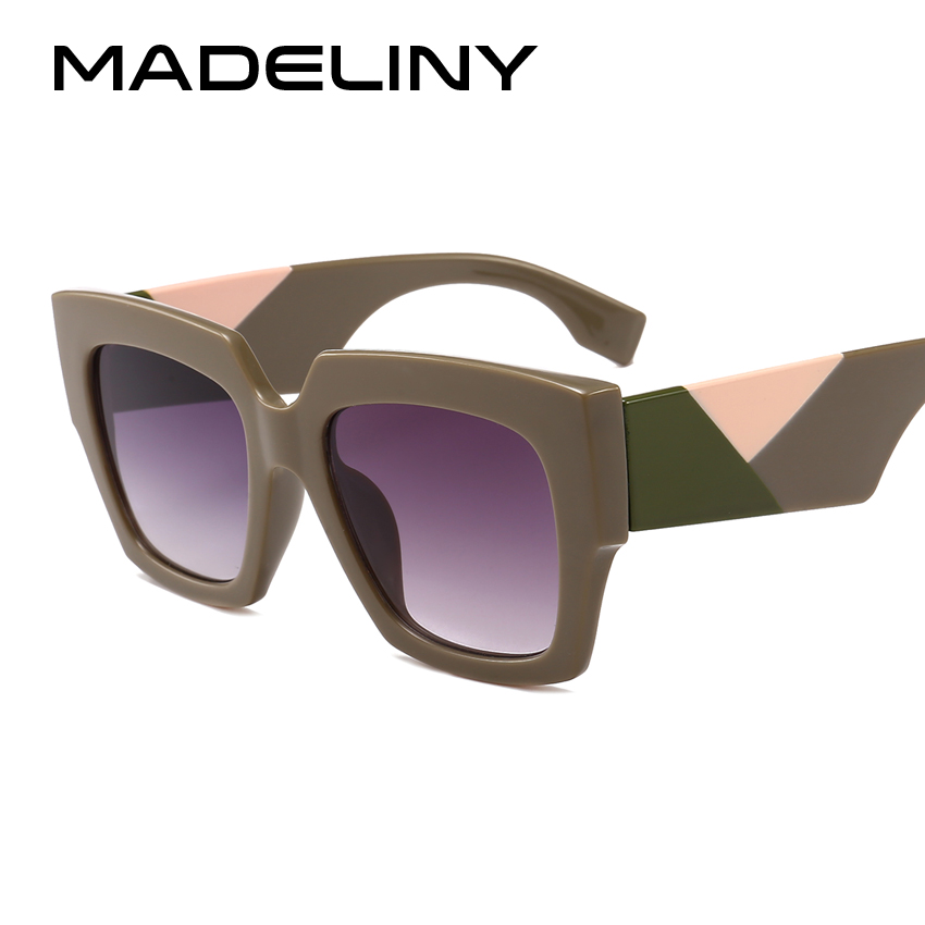 23b9516f8a MADELINY nueva moda mujeres gafas de sol cuadradas de diseño clásico Vintage  2018 personalidad gafas de sol tonos UV400 MA090 en Gafas de sol para mujer  de ...