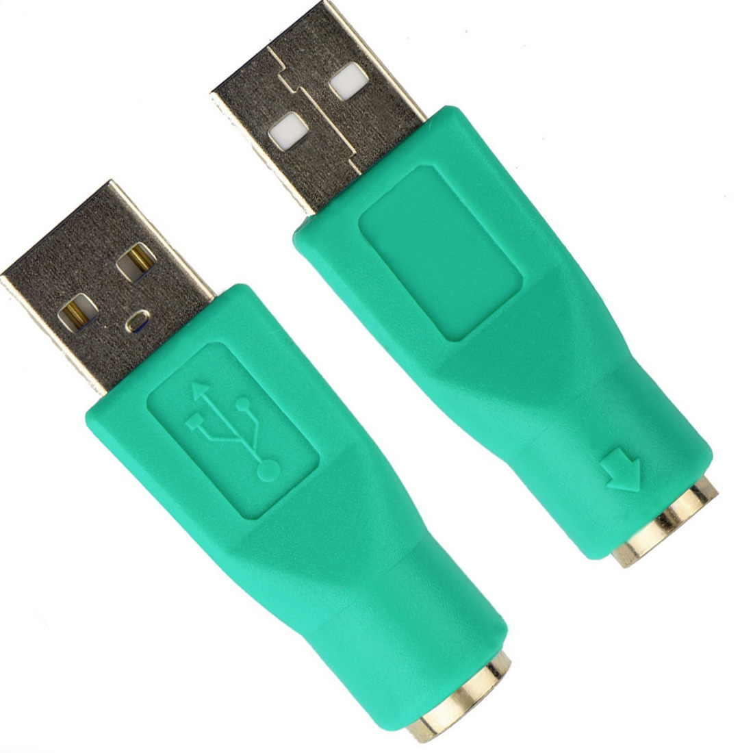 centechia PS2 interface converter PS / 2 to USB adapter head to U port USB switch keyboard / mouse plug цены