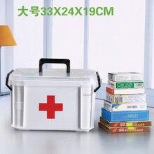 Семейная медицина ящик для хранения Многослойная пластиковая коробка аптечка первой помощи коробки спорта на открытом воздухе лекарства хранения коробки дома органайзера
