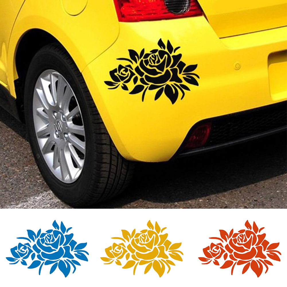 Flower Car Stickers Cover Scratches Vehicle Bumper Window