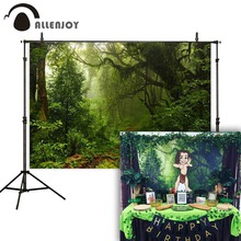 Allenjoy Christmas backdrop forest green natural wonderland portrait professional photographic background for photo studio