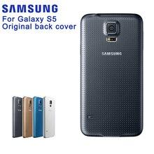 Оригинальная батарея Samsung Стекло Задняя панель для Samsung Galaxy S5 S5Mini G900S G900F G9008V G870A сзади Корпус задняя крышка