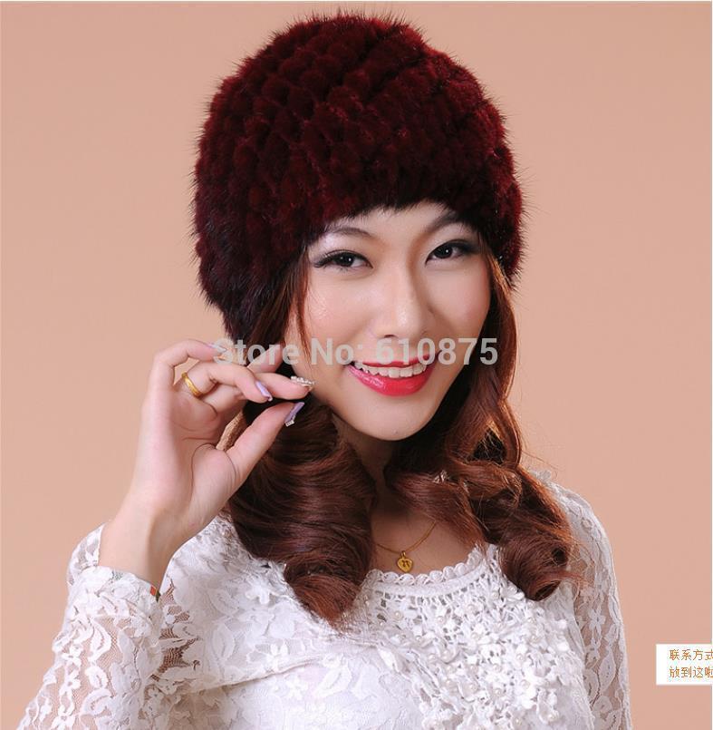 9d44c14853e4 ≧Для женщин высокое качество норки подготовки шапка меховая шапка ...