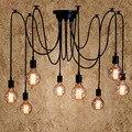 Винтажная Подвесная лампа для гостиной-паука  люстры для зала отеля  спальни  офиса  Подвесная лампа для дома  чердака  деко  G80 лампа  светиль...