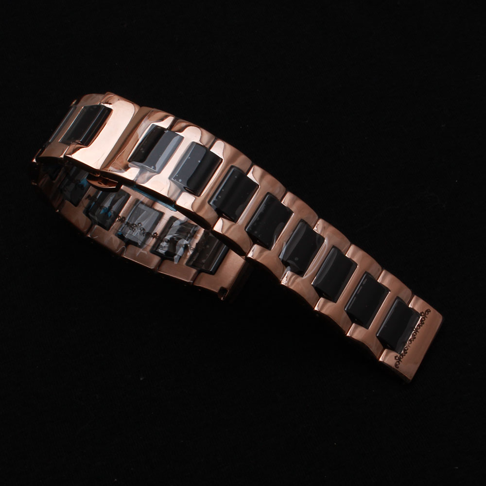 Watchbands 16mm 18mm 20mm 22mm High Quality Ceramic Watchband white black fit Diamond Watch ladys watches Bracelet metal buckle