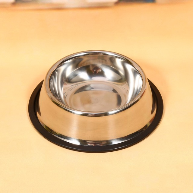 Stainless Steel Dog Cat food Bowl No Slip  Dog Puppy Pet Food Water Bowl Water Dish Dog Feeder Water Bowls Dish