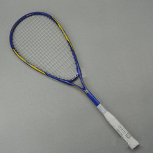 Squash racket/squash racquet carbon aluminum alloy strung squash rackets colour:orange/blue come with bag