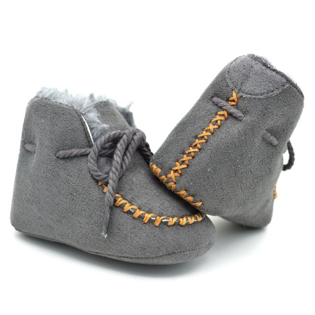 e3d2ede50 Girls Baby Booties Sheepskin Genuine Leather Boy Baby Boots Fur Newborns Winter  Baby Shoes Boots Infants Warm Shoes Fur Wool