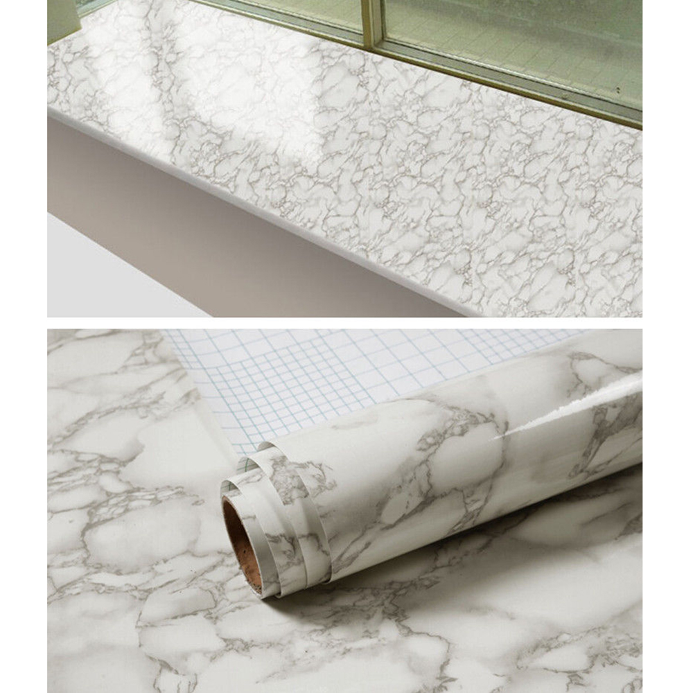 1.22x5m Marble Contact Paper Gloss Vinyl Film Decorative countertop Adhesive marble sticker paper Marble Look Waterproof