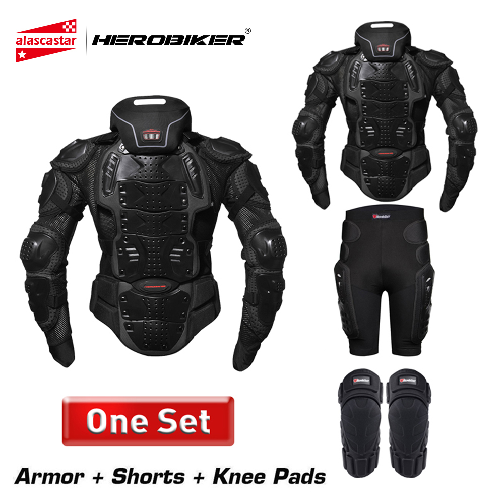 HEROBIKER Moto Armure Protection Corps Équipement De Protection Motocross Moto Veste Moto Vestes Avec Col Protecteur