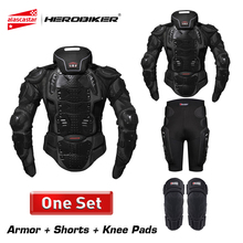 HEROBIKER Motorcycle Armor Protection Body Protective Gear Motocross Motorbike Jacket Jackets With Neck Protector