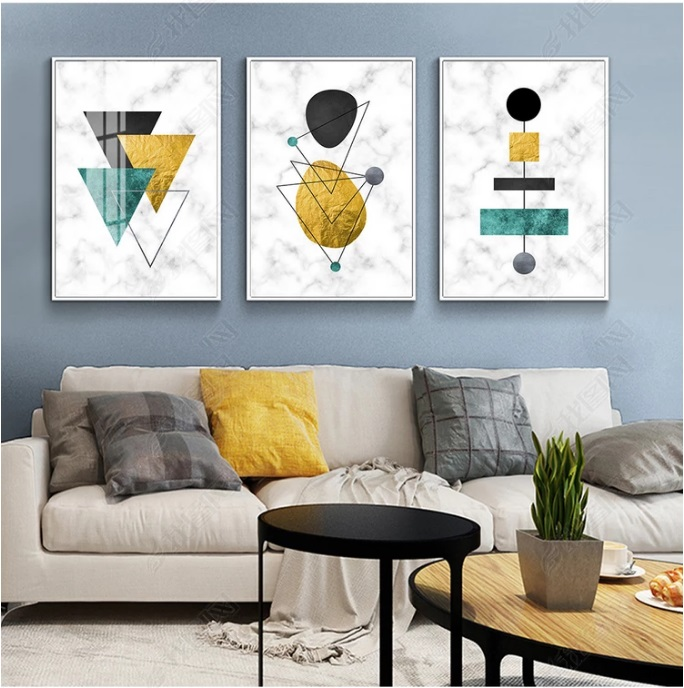 Nordic Geometric Art Pattern Stitching Canvas Print Modular Wall Paintings For Living Room Wall Art Home Decor No Framed