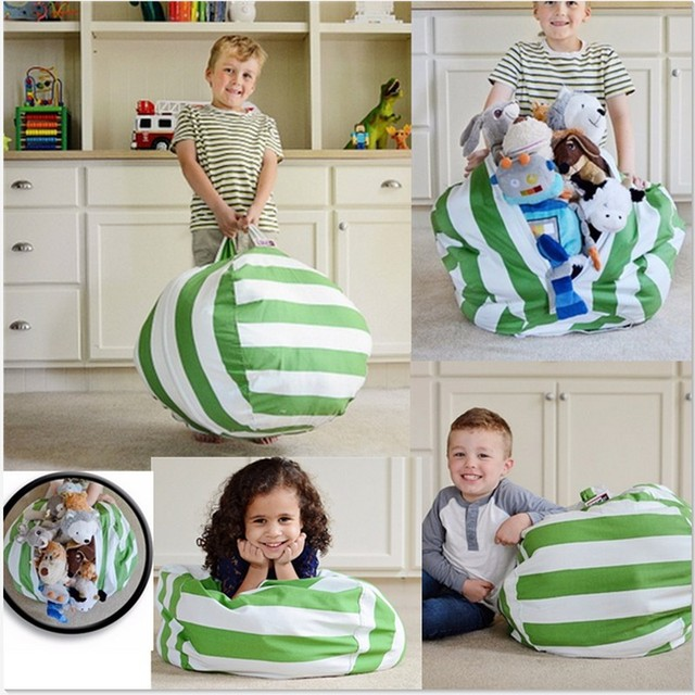 2017 Most Popular Torage Stuffed Animal Storage Bean Bag Chair Kids Toy Play