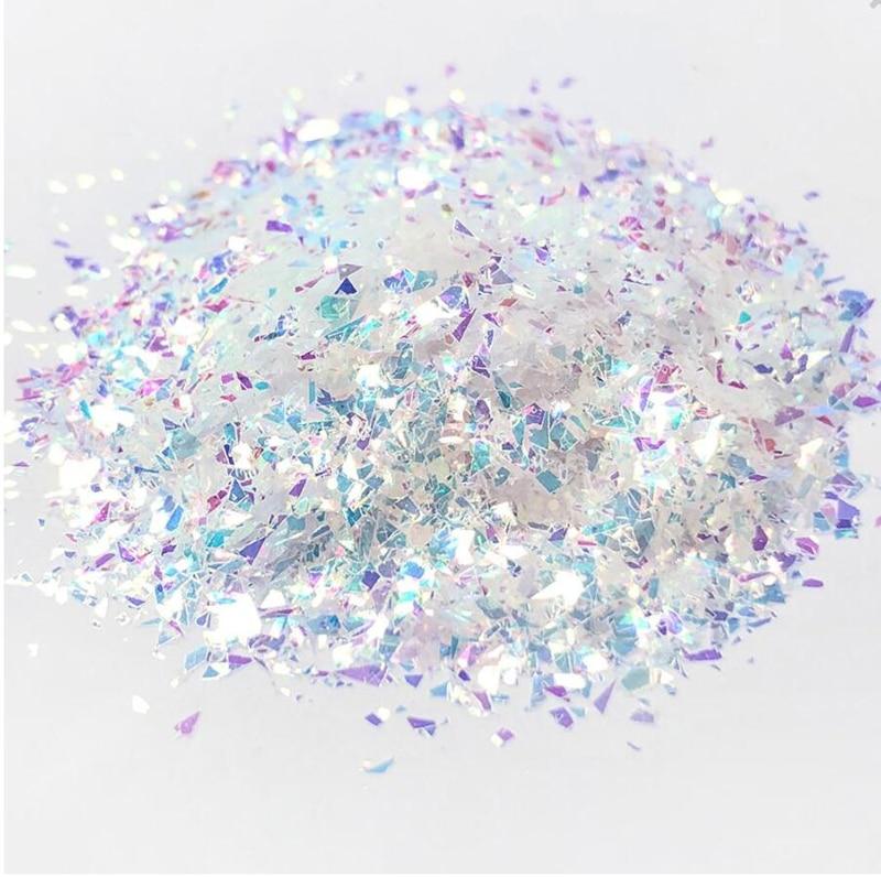Schillernden glitter flakes 50 gr/beutel Aurora Zerbrochen Glas Glitter regenbogen Flakes Nagel Chunky Glitter Flakes, Harz glitter