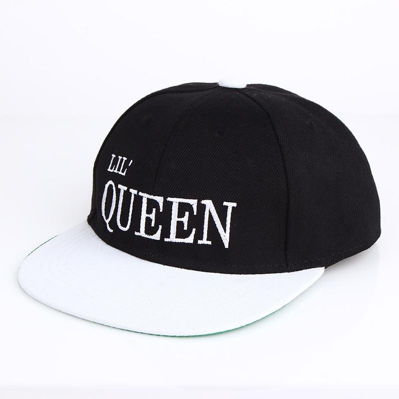 Aliexpress.com  Comprar 2017 nuevos niños king queen Snapback Cartoon bordado  gorra de béisbol de algodón niños bebés niña Snapback gorras Hip Hop  sombreros ... 4f70560f3da