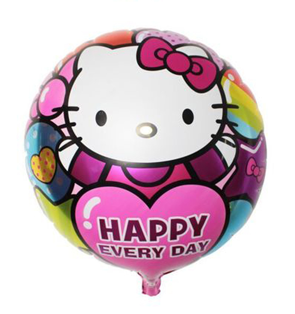 18inch helium balloons hello kitty cat toys ballons children party