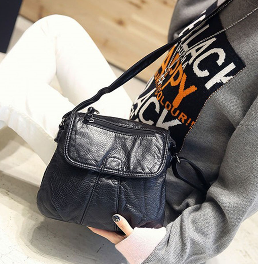 Big Women Handbags Soft PU Leather Hobos Female Handbags Shoulder Bags Ladies Bag