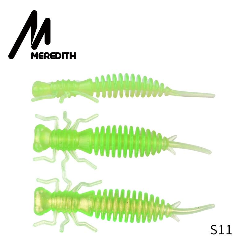 Мягкие приманки MEREDITH Larva, 50 мм, 62 мм, 85 мм, искусственные приманки, силиконовая приманка для ловли червя, приманка для ловли щуки, гольян, плавающая приманка, пластиковые приманки - Цвет: S11