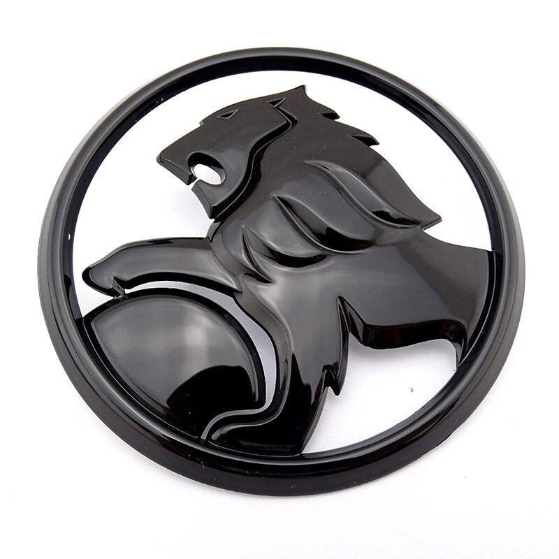 US $10 69 |110mm Gloss Black Plastic Lion Emblem Car Brand Logo 3D Custom  Car Emblem Sticker-in Car Stickers from Automobiles & Motorcycles on