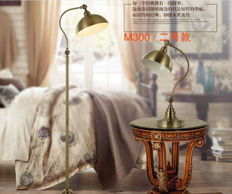 American retro table lamp for living room bedroom bedside study copper luxury creative fashion floor hone decorations lamp ZA