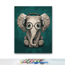 DIY Coloring paint by numbers Elephant paintings by numbers with kits 40x50 framed(China)