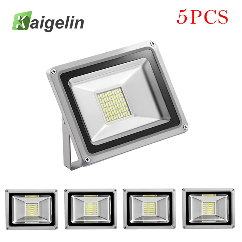 5Pcs 30W LED Flood Light 220V-240V 3300LM Reflector Floodlight SMD5730 IP65 Waterproof Led Lamp Garden Lighting Outdoor Lighting led flood light 200w eptar led floodlight outdoor lighting 220v 240v led reflector spotlight ip65 waterproof garden lamp