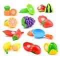 1 Pcs DIY Pretend Spielen Spielzeug Küche Kunststoff Kochen Schneiden Obst Lebensmittel Gemüse Pädagogisches Frühen Spielzeug Geschenke für Kinder Mädchen