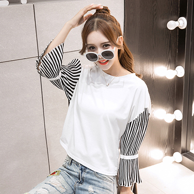 Mujer Ropa 3xl Plus Size Tops Women T Shirt 2018 Summer Striped T-Shirt Woman Clothing Short Sleeves T-Shirts O-Neck Tees Female