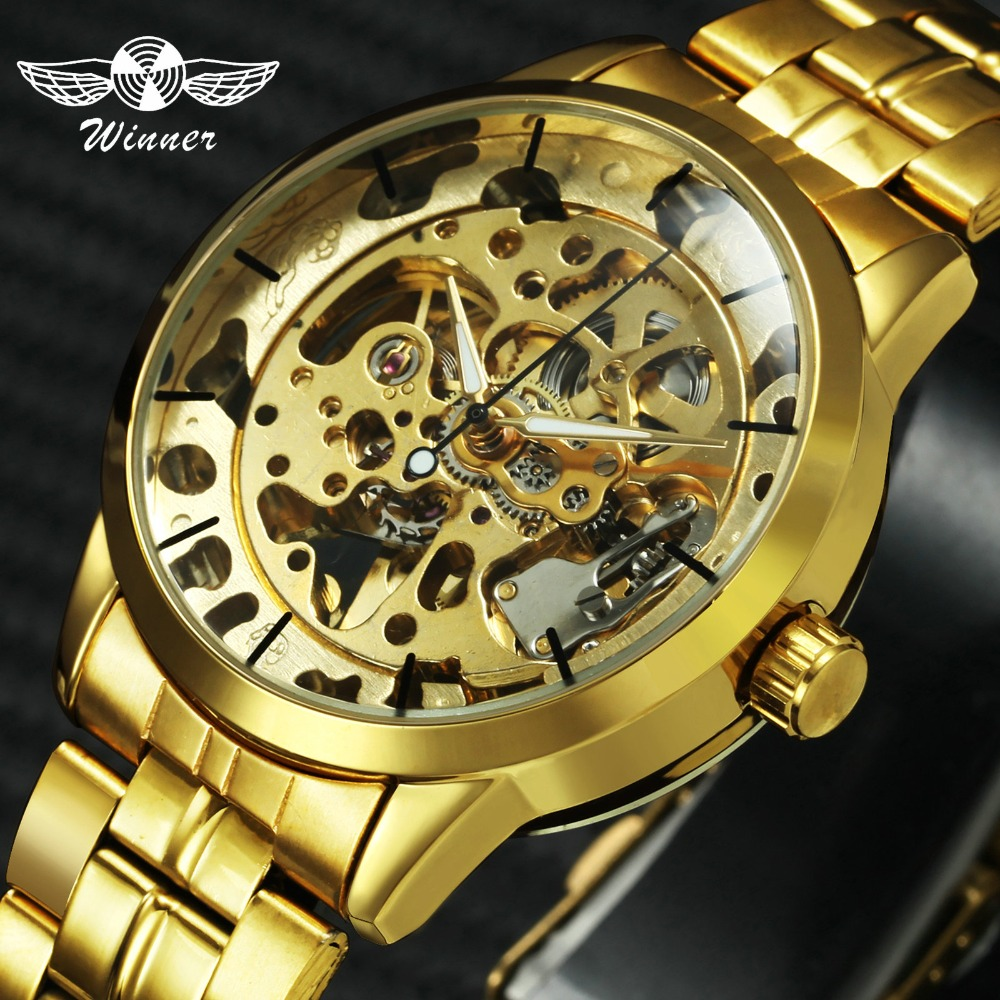 WINNER Luxe skeleton Retro-jurk heren automatische mechanische - Herenhorloges