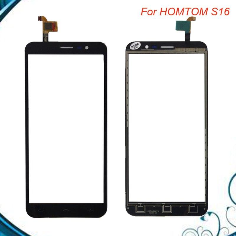 Touch Panel Sensor Touch Screen DigitizerFor HOMTOM S16 S 16 Touch Screen Digitizer Front Glass Panel Sensor Black color
