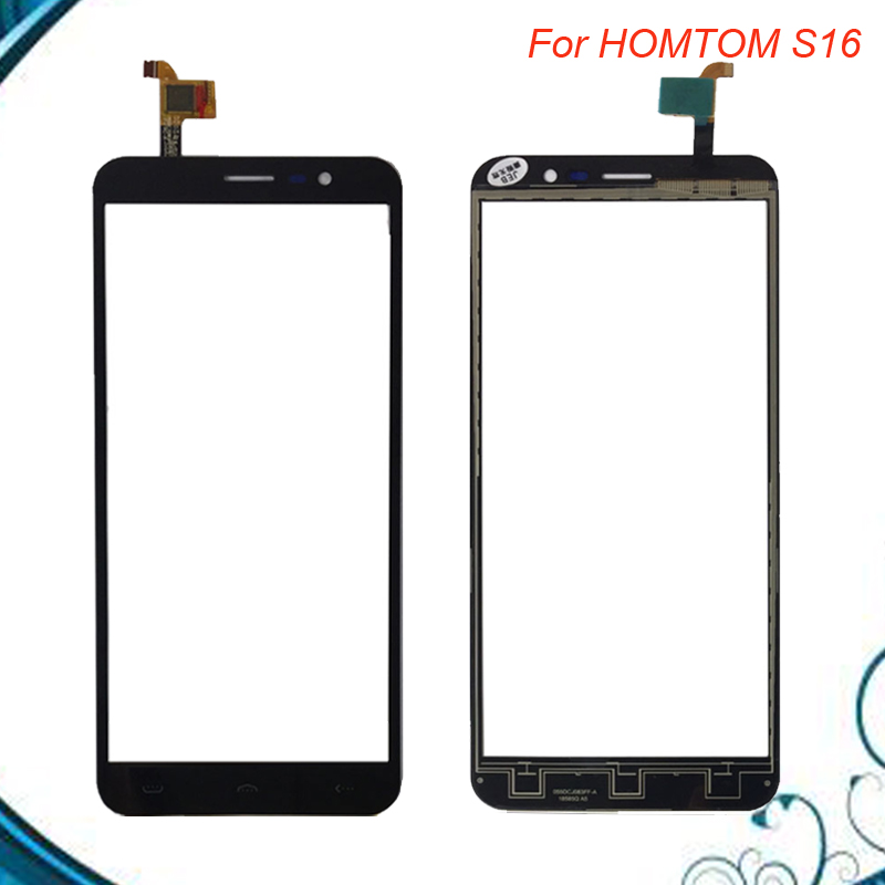 Touch Panel Sensor Touch Screen DigitizerFor HOMTOM S16 S 16 Touch Screen Digitizer Front Glass Panel Sensor Black color