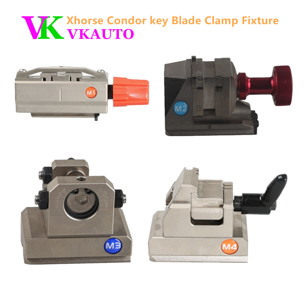 Key Blade Clamp Fixture M1 M2 M3 M4 for Xhorse Condor XC MINI and Dolphin XP005