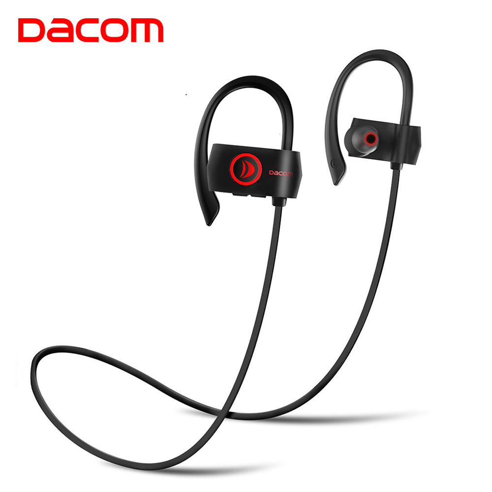 DACOM Wireless Headphone 4.1 Sport Bluetooth Earphone Noise Cancelling Headset Ear Hook Stereo fone de ouvido for Samsung Xiaomi mini bluetooth earphone stereo earphone handsfree headset for iphone samsung xiaomi pc fone de ouvido s530 wireless headphone
