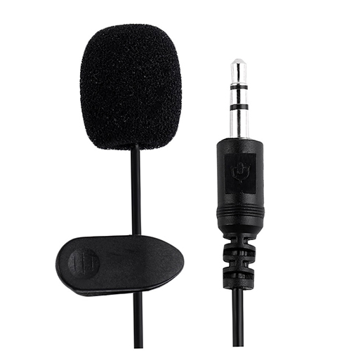 Durable Lavalier Lapel Tie Clip-on 3.5mm Mic Microphone for Smartphone Laptop PC
