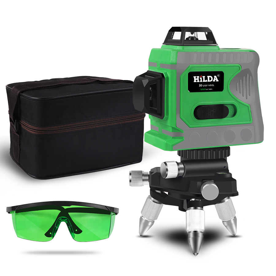 12 Lines 3D Level Self Leveling 360 Horizontal And Vertical Cross Super Powerful Green Laser Beam
