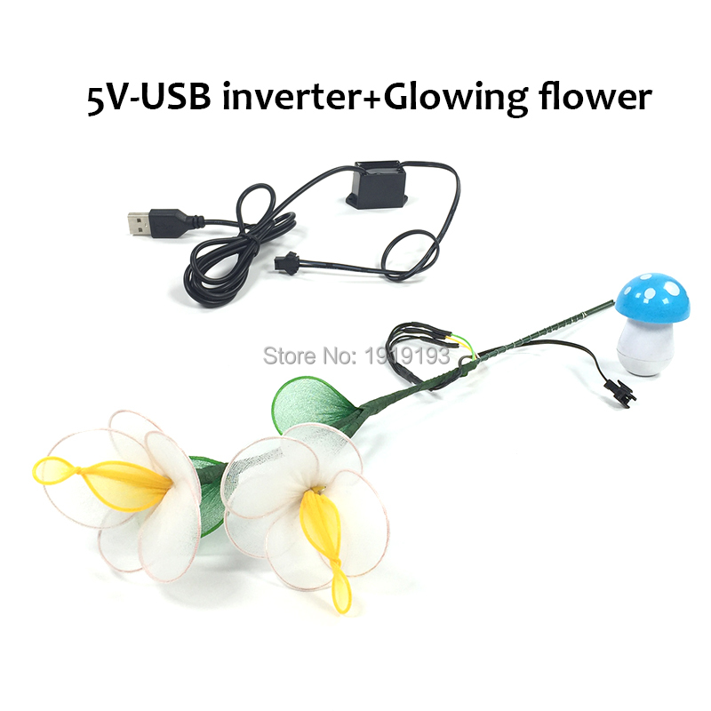 Newest Type LED Cold Light Flower Asian Style Multicolor Pretty EL wire Flower for Birthday Sparkling EL Product as Bar decor ...