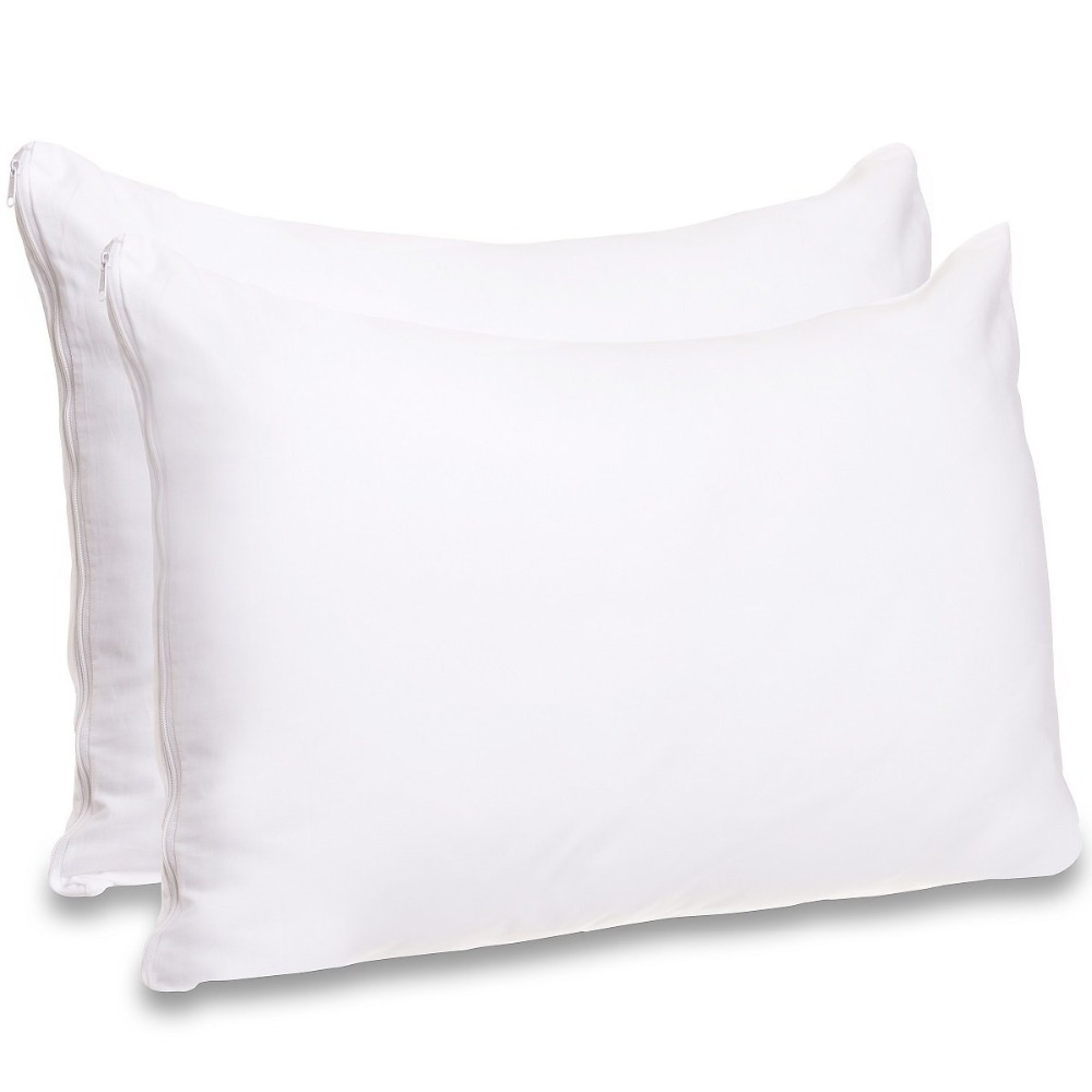 50x50cm 50X70CM Waterproof Pillow Protector Set Of 2 Pillowcase Anti Mites Bed Bug Proof Zipper Pillow Cover Allergy Pilow Cover