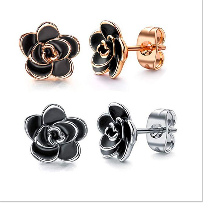 New Fashion Style High Quality Rose Gold Bow Stud Earrinhs For Women Flowers Stud Earrings Piercings Jewelry Party Gifts クリア バック ショルダー 大人