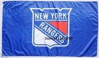 NHL New York Rangers flag 3X5 NHL New York Rangers Banner Flags 90cmX150cm